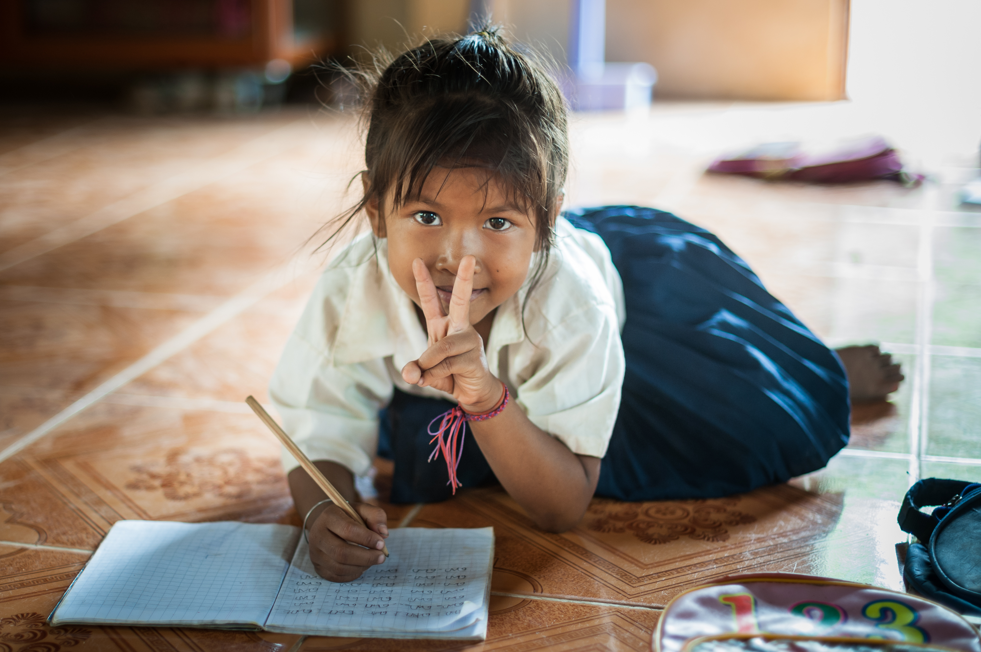 Des jeux pour les maternelles de Banteay Chmar