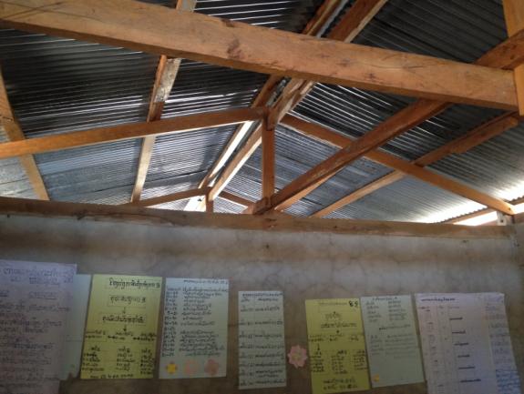 Réparation et rénovation d'une école à Dong Mak Ba